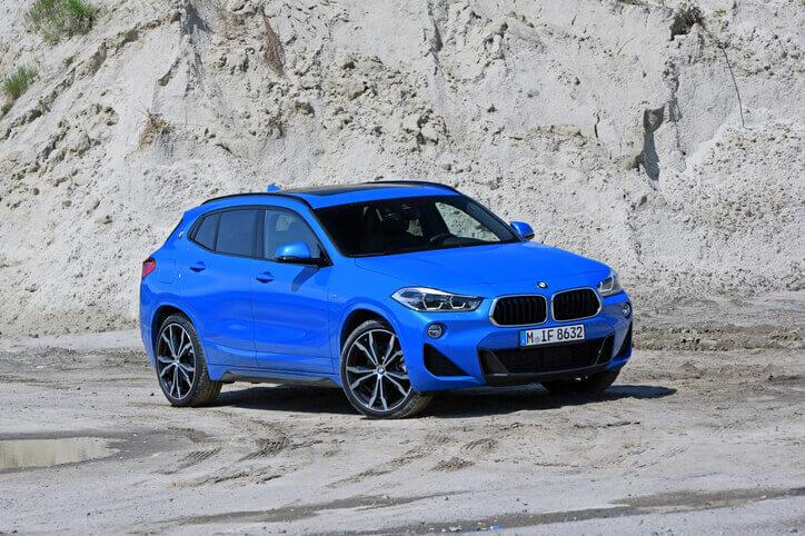 BMW X2 blue